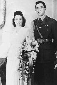 Le mariage d'Elizabeth et Robert Maxwell. (Crédit : autorisation)