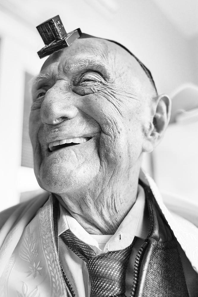 Yisrael Kristal, 113 ans, survivant de la Shoah et homme le plus âgé au monde, en 2016. (Crédit : The Last Link, Nissim Sellam & Sandrine Cohen)