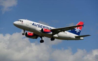 Un Airbus A319 de la compagnie Air SerbiA. (Crédit : CC-BY-SA-2.0 Aleem Yousaf/Wikipedia)