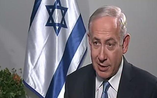 Le Premier ministre Benjamin Netanyahu pendant un entretien avec la Deuxième chaîne, le 24 septembre 2016. (Crédit : capture d'écran Deuxième chaîne)