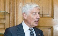 Dries van Agt, ancien Premier ministre des Pays-Bas (Crédit : Heden en verleden in het Torentje/CC BY/WikiCommons)