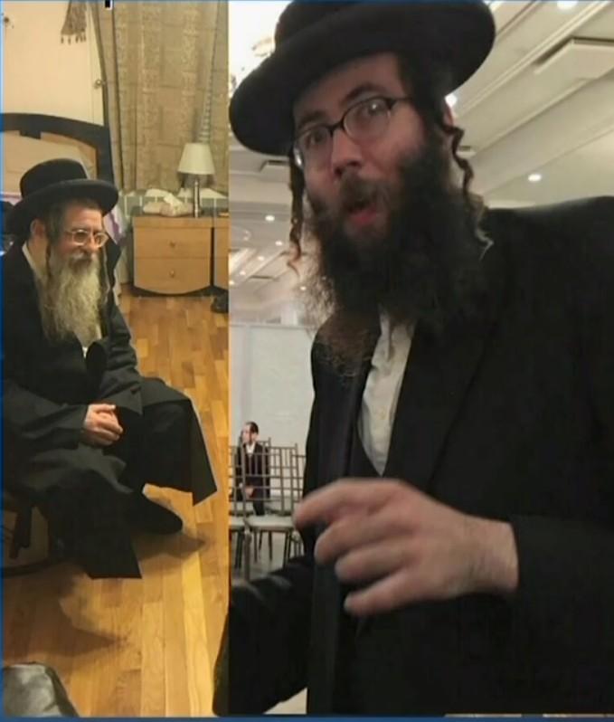 Le rabbin Aharon Goldberg (à gauche) et Shimen Liebowitz, qui ont été accusés de comploter pour enlever et assassiner un homme refusant d'accorder le divorce religieux à son épouse par les procureurs fédéraux de New York, le 6 septembre 2016. (Crédit : capture d'écran News12 Hudson Valley)