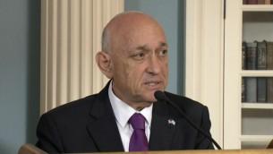 Yaakov Nagel en septembre 2016. (Crédit : capture d'écran de la diffusion en direct du département d'Etat)