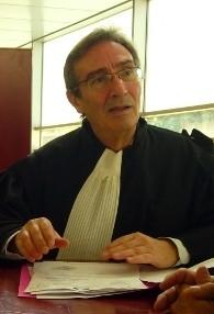Charles Baccouche dans sa robe de procureur. (Crédit : autorisation)