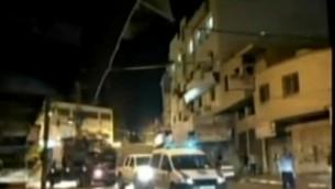 La police à Tulkarem pour récupérer deux soldats israéliennes non armées qui sont entrées par erreur dans la ville palestinienne, le 13 septembre 2016. (Crédit : Deuxième chaîne)