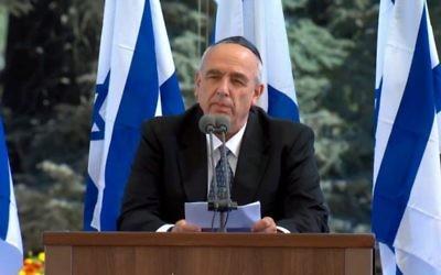 Yoni Peres, le 30 septembre 2016 (crédit : capture d'écran GPO)
