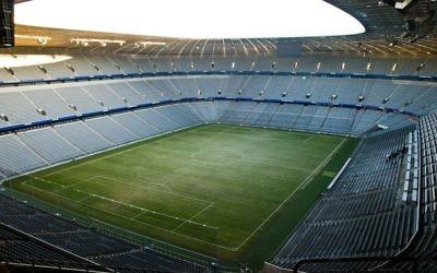 L'Allianz Arena, le stade du Bayern de Munich, en décembre 2007. Illustration. (Crédit : Michal Osmenda/CC BY-SA 2.0/WikiCommons)