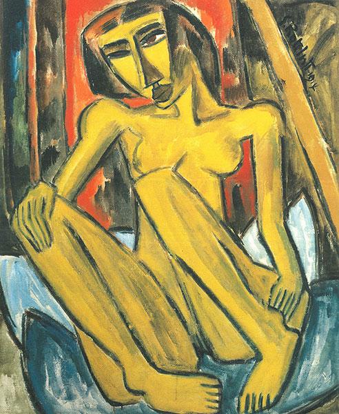 Nu de Karl Schmidt-Rottluff (1914). (Crédit : Neue Galerie, New York)