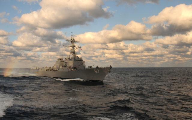 L'USS Mason dans l'Atlantique le 14 janvier 2011. (Crédit : US Navy/Anna Wade)