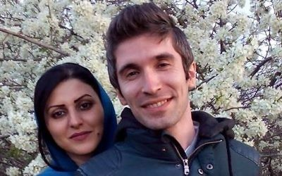 Golrokh Ebrahimi Iraee et son mari, Arash Sadeghi. (Crédit : Facebook)