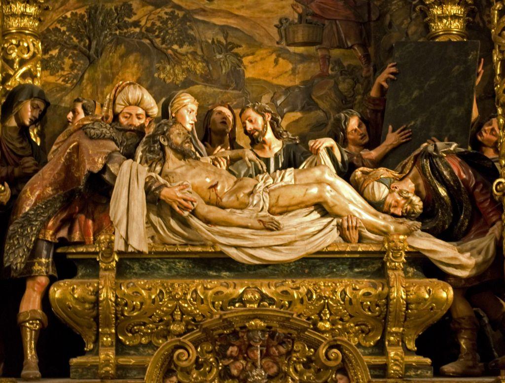 La Mise au tombeau du Christ de Pedro Roldán (Crédit : Wikimedia Commons, CC BY 3.0)
