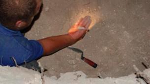 Objet en argile trouvé au mont du Temple datant de la période du Premier Temple (Crédit : IAA)