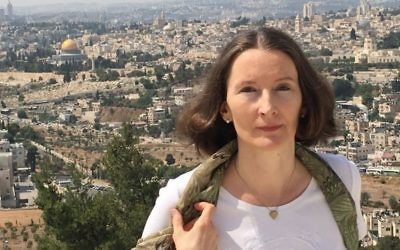 Monika Schwarz-Friesel, (Crédit : Marc Neugröschel / Times of Israel)