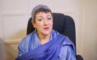 Laura Janner-Klausner (Crédit : capture d'écran YouTube)