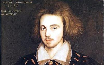 Un portrait d'un jeune homme de 21 ans qui serait celui de Christopher Marlowe (Crédit : Domaine public)