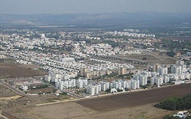 Nahariya, ville côtière du nord d'Israël. (Crédit : Wikimdia Commons/Domaine public)