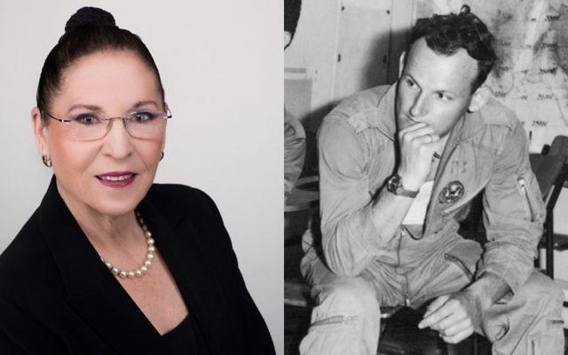 Tami Shelach, présidente de l'Organisation des Veuves et Orphelins de Tsahal, à gauche, et son mari décédé, le pilote de combat Ehud Shelach, tué pendant la guerre de Kippour. (Crédit : IDFWO)