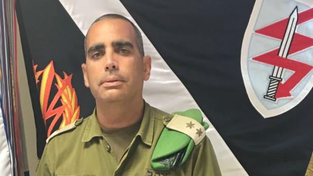 Le colonel Yniv Nimni, le commandant du du bataillon Tzameret (Crédit : Unité des porte-paroles de l'armée israélienne)