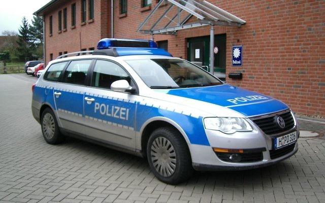 Illustration d'une voiture de police allemande (Crédit : CC BY-SA 3.0)