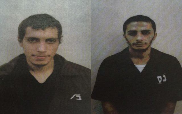 Amir Abdel Hakim Jabara, à gauche, et Ibrahim Abdel Halim Sheikh Yusuf, à droite, membres présumés d'une cellule terroriste du groupe Etat islamique dans le village arabe israélien de Tayibe. (Crédit : Shin Bet)