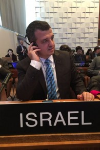Carmel Shama-Hacohen, ambassadeur d'Israël auprès de l'UNESCO, le 26 octobre 2016. (Crédit : autorisation)