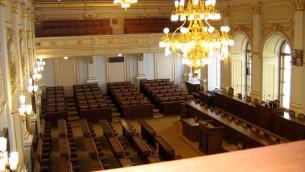 La Chambre des députés du parlement de République tchèque. (Crédit : CC BY-SA Ervinpospisil, Wikipedia)