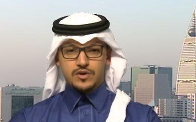 Salman al-Ansari, président du nouveau Comité des affaires de relations publiques américano-saoudiennes de Washington D.C. (Crédit : capture d'écran YouTube)