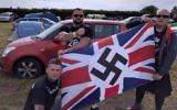 Les néo-nazis assistent à un événement pour marquer l'anniversaire de la mort du fondateur de Blood and Honour dans le Cambridgeshire, au Royaume-Uni les 23 et 24 septembre 2016. (crédit : capture d'écran BBC News)