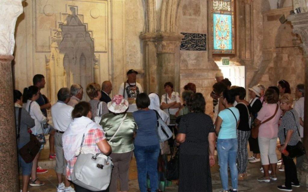 Le Cénacle : dans la tradition chrétienne, c'est ici que se serait produit La Cène, de Jésus. (Crédit : Shmuel Bar-Am)