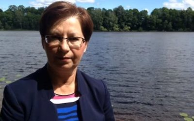 Anna Hagwall, députée du parti d'extrême-droite des Démocrates de Suède. (Crédit : capture d'écran YouTube)