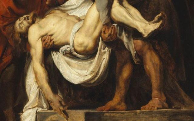 Détail de 'La mise au tombeau' (1611-12), à la National Gallery of Canada, de Peter Paul Rubens (Crédit : Wikimedia)