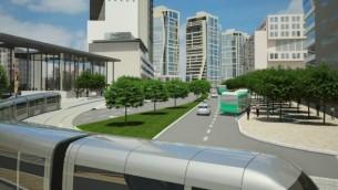Illustration du projet Jerusalem Gateway (Crédit : Dagan Advnced Visual Solutions)