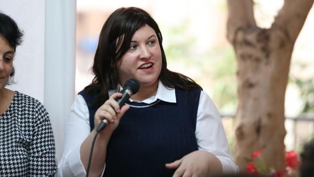 Chedva Kleinhandler, fondatrice et PDG de Lean On, au lancement de 12 Angels à Tel Aviv, le 19 octobre 2016. (Crédit : autorisation)