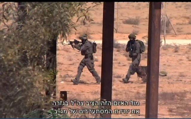 Des commandos de la police des frontières se préparent à une situation de prise d'otages dans une commune du sud d'Israël, près de la frontière avec la péninsule du Sinaï. (Crédit : capture d'écran d'un reportage diffusé le 28 octobre 2016 sur la Dixième chaîne)
