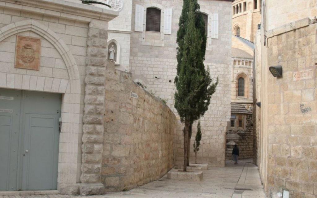 Allées historiques dans le mont Sion, capturé et entre les mains par les forces juives en 1948, même après que la Vieille Ville est tombée aux mains des Légionnaires jordaniens (Crédit : Shmuel Bar-Am)