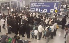 La salle d'embarquement à l'aéroport de Kiev (Crédit : Facebook)