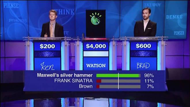 Watson d'IBM participe à l'émission américaine Jeopardy, le 11 janvier 2013 (Crédit : Autorisation IBM)