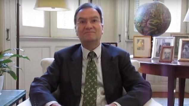Michael Worbs, président du Conseil exécutif de l'UNESCO. (Crédit : capture d'écran YouTube)