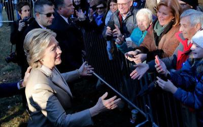 Hillary Clinton a voté le 8 novembre 2016 (Crédit : AFP/Eduardo Munoz Alvarez)