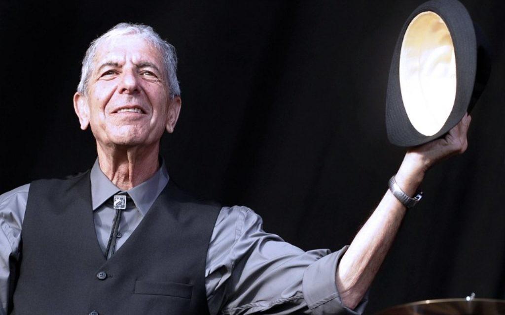 Leonard Cohen au Festival international de Beincassim. (Crédit : Diego Tuson/AFP)