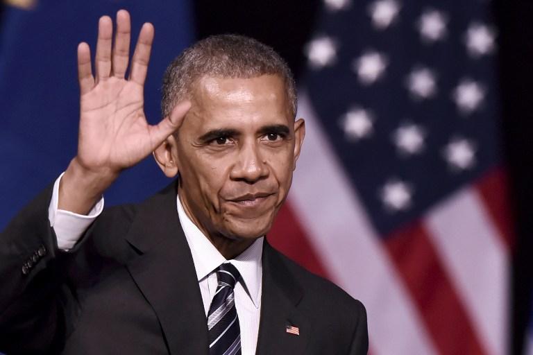 Le président américain Barack Obama à Athènes, le 16 novembre 2016 (Crédit : AFP/ARIS MESSINIS)