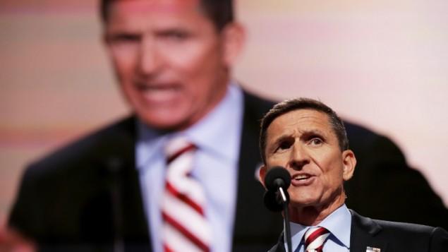 Michael Flynn, lieutenant général à la retraite, au premier jour de la Convention nationale républicaine à Cleveland, dans l'Ohio, le 18 juillet 2016. (Crédit : Chip Somodevilla/Getty Images/AFP)