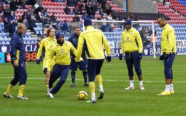 Séance d'entraînement de l'équipe de Tottenham (Crédit : Dan Farrimond/CC BY 2.0)