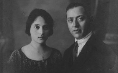 La photo de mariage d'Allegra Confino et de Calev Elias, les grands-parents du réalisateur Lawrence Russo. (Capture d'écran)