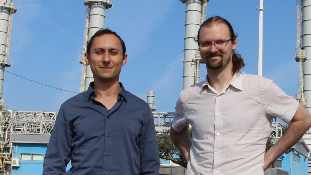 Le PDG d'Aperio Yevgeni Nogin (à gauche) et le vice-président Michael Shalyt (Crédit : Autorisation)