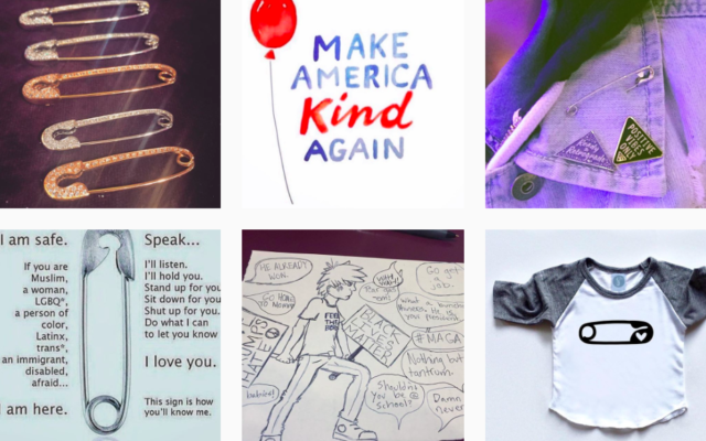 Illustrations de port d'épingle à nourrice sur Instagram