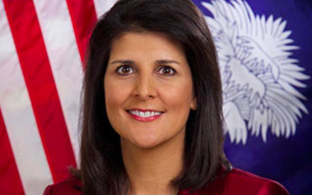 Nikki Haley en 2014 (Crédit : Official South Carolina Governor's Office par Sam Holland)