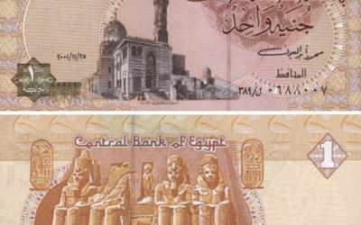 Livre égyptienne émise en 2011. (Crédit : Jak/Domaine public/WikiCommons)