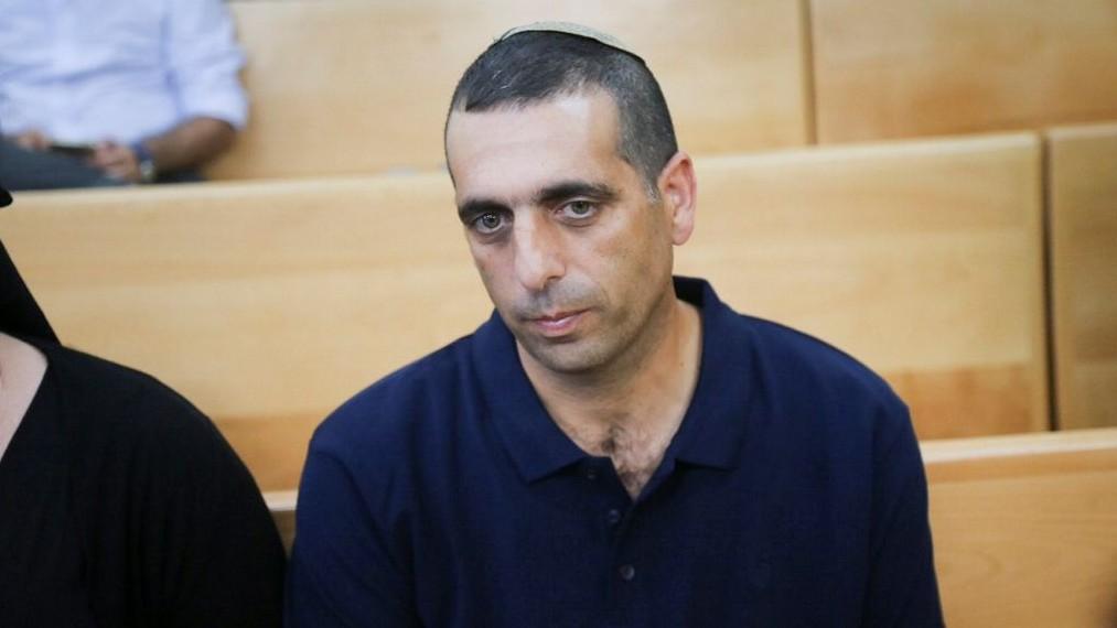 Ofek Bouchris, ancien général de brigade accusé de viol et d'agressions sexuelle contre deux subordonnées, comparaît devant le tribunal militaire de Jaffa, le 29 septembre 2016. (Crédit : Flash90)
