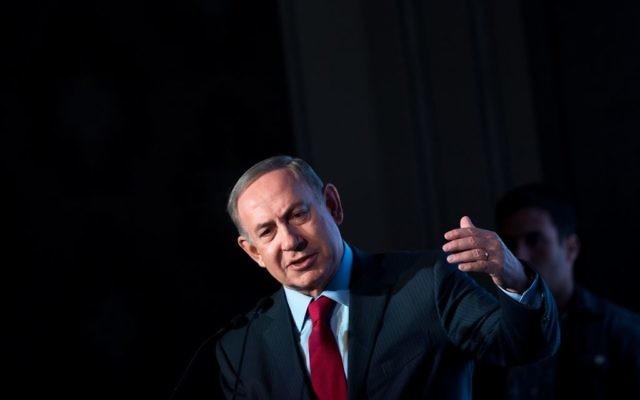 Le Premier ministre Benjamin Netanyahu pendant la conférence diplomatique du Jerusalem Post, à Jérusalem, le 23 novembre 2016. (Crédit : Miriam Alster/Flash90)